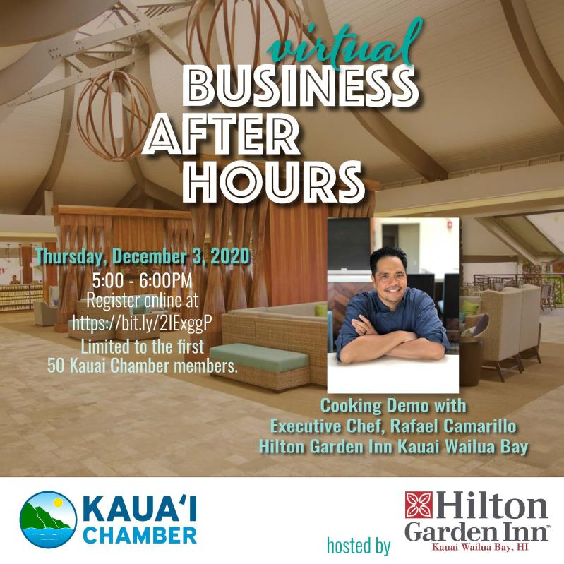 Virtual Business After House hosted by Hilton Garden Inn Kau
